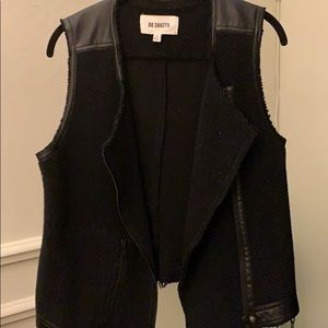 Bb Dakota Black Leather lined vest
